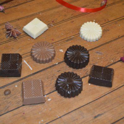 Шоколадные фигурки долька и медиант, 20 гр.