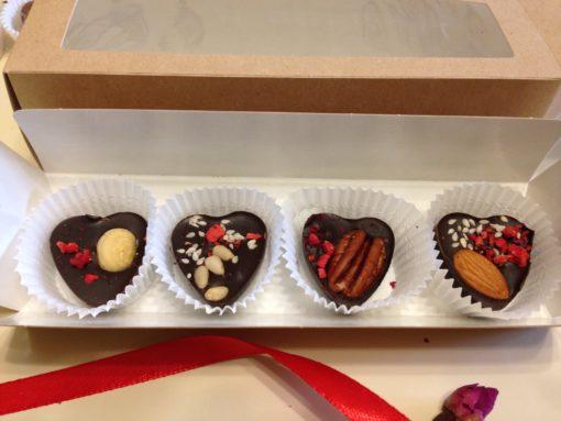 Набор шоколадных сердечек, 40 гр.