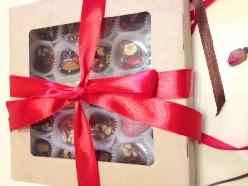 Набор шоколадных сердечек, 250 гр. (25 штук)