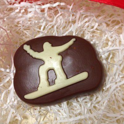 шоколадная фигурка Сноубордист