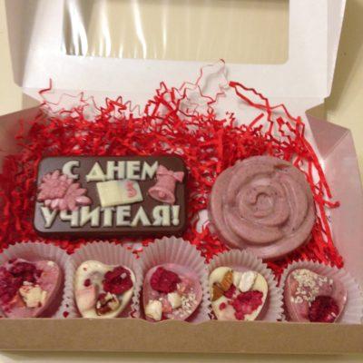Подарочный набор С днем учителя с розой