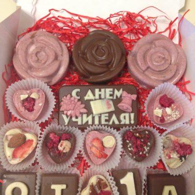 Подарочный набор для учителя с розами